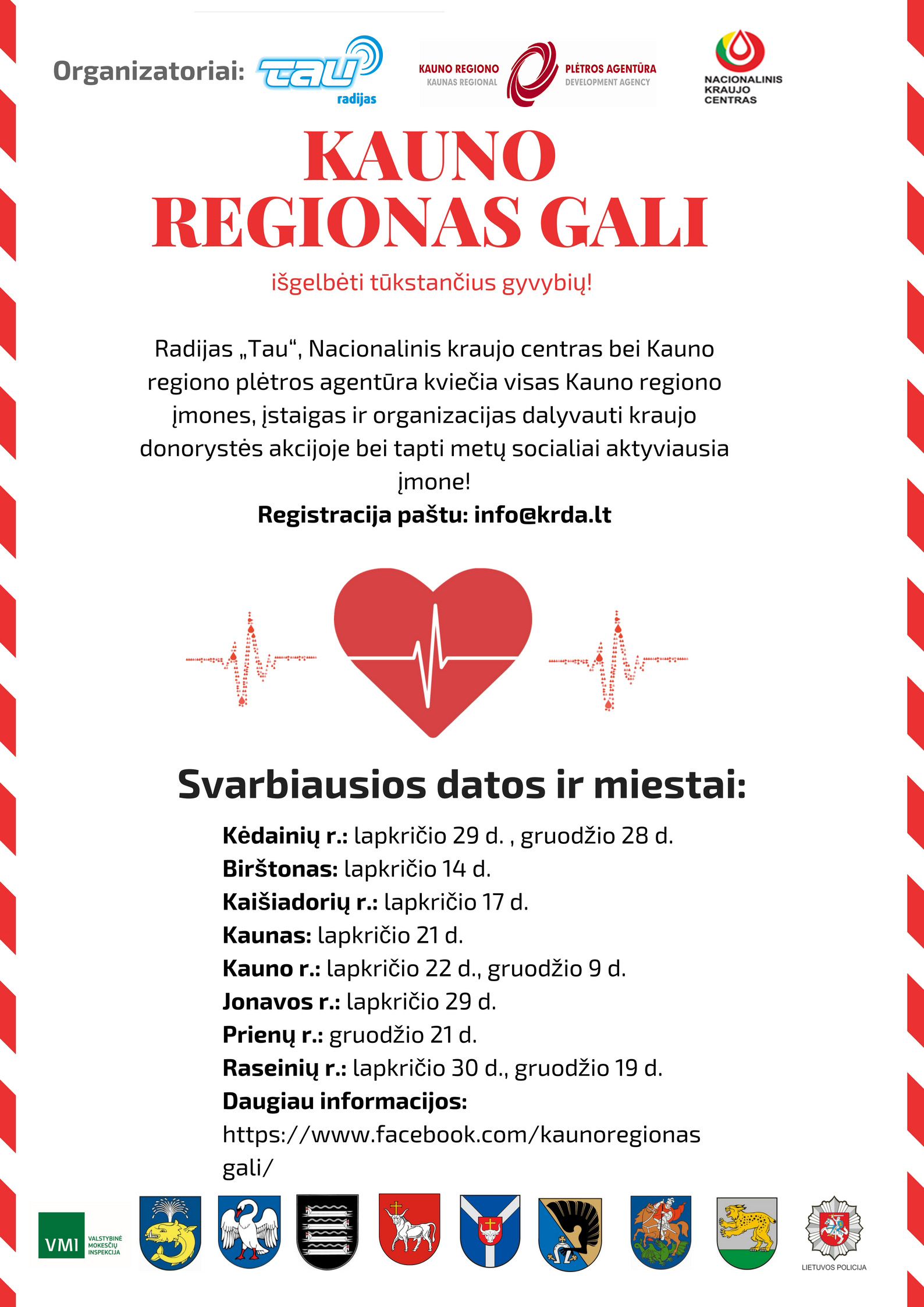 Kraujo donorystės akcija KAUNO REGIONAS GALI!  Paaukok kraujo – tapk socialiai atsakinga įmone!