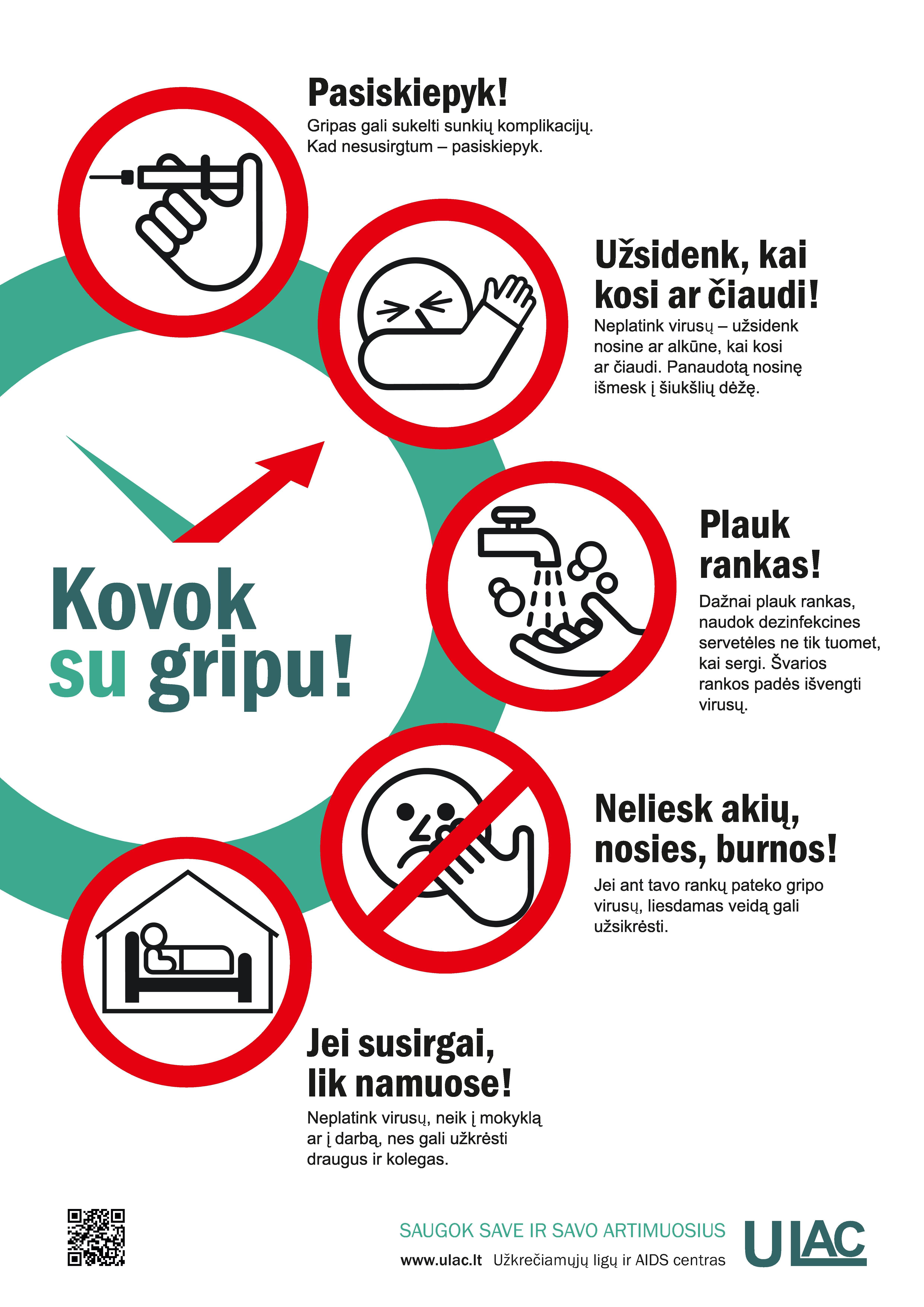 Sergamumas gripu ir ŪVKTI