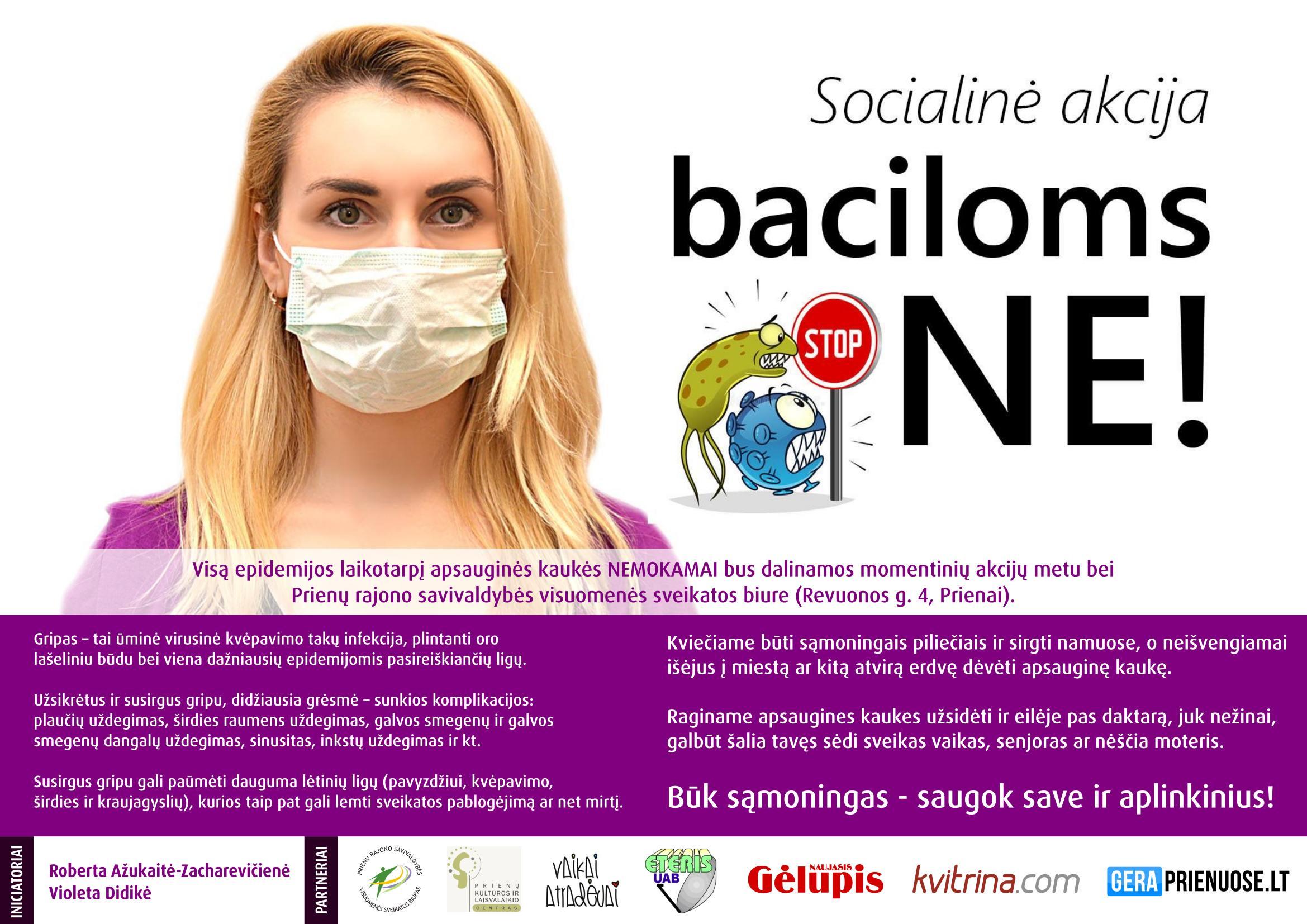 """Socialinė akcija """"Baciloms NE""""!"""