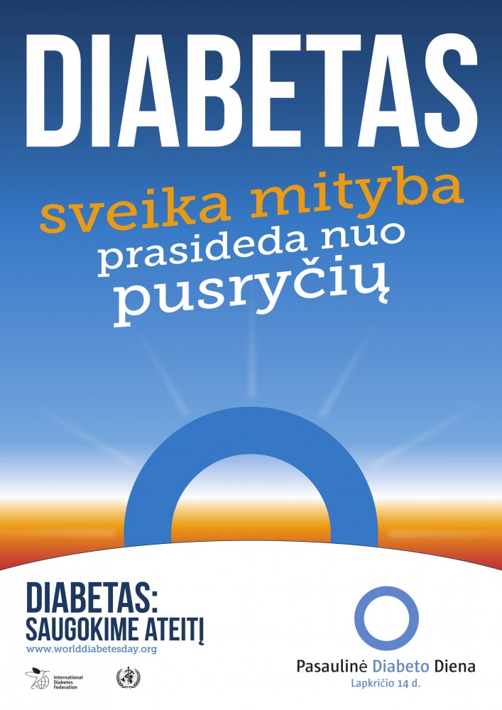 Pasaulinė diabeto diena 2018: diabetas susijęs su kiekviena šeima