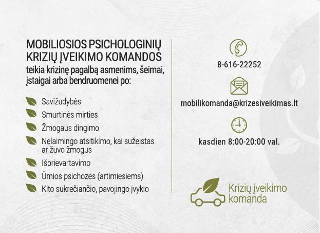 Mobiliųjų psichologinių krizių įveikimo komandų (MPKĮK) paslaugų teikimas