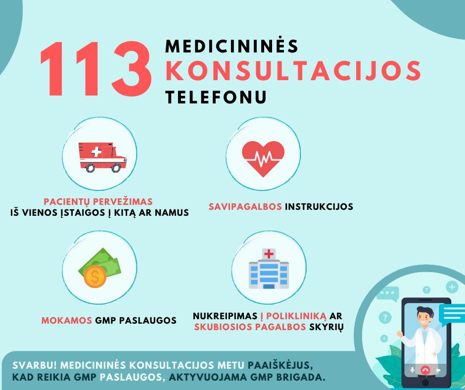 Naujas numeris 113 – medicininėms konsultacijoms