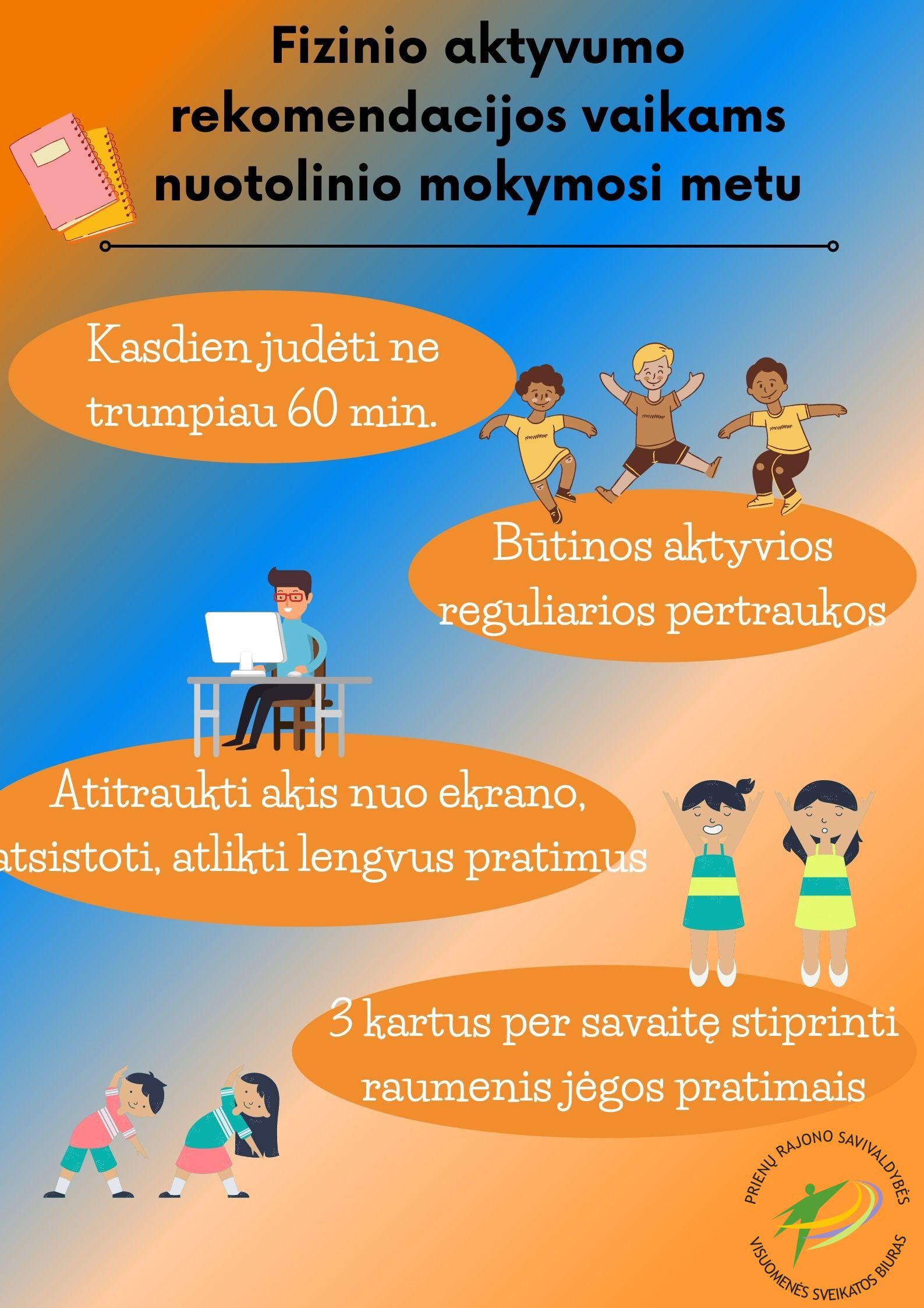 Mokinių fizinio aktyvumo poreikių patenkinimas nuotolinio mokymosi metu