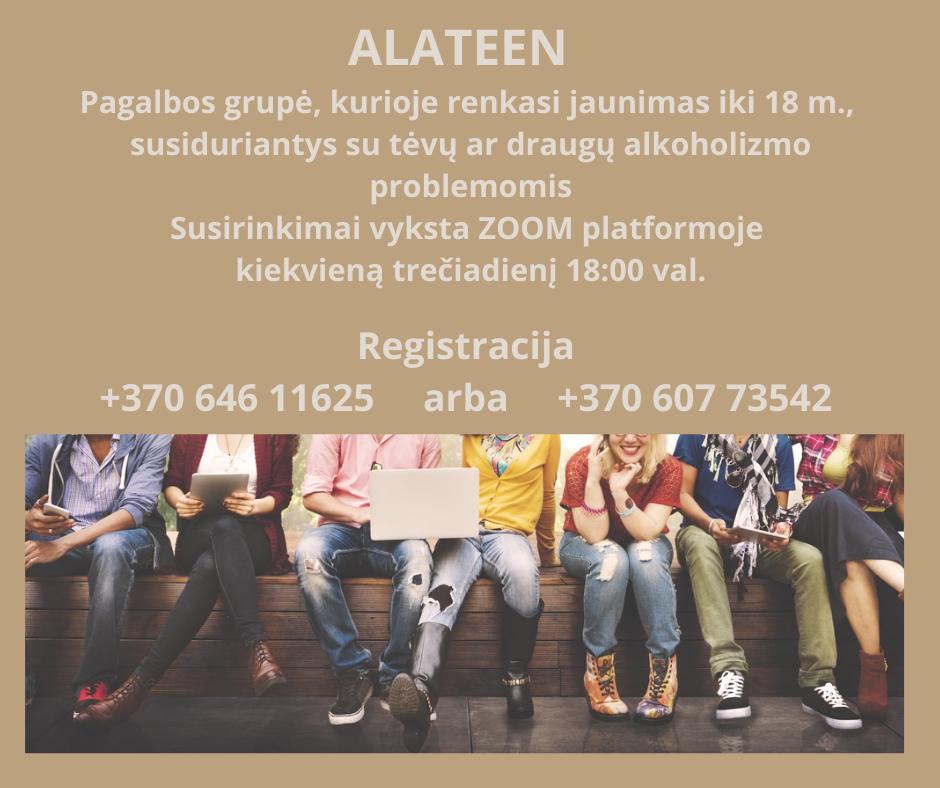 Kviečiami jaunuoliai iki 18 m. jungtis į grupę ALATEEN