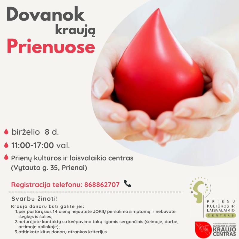 Kraujo donorystės diena Prienuose!
